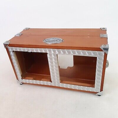 Empty Wooden Shell Case For S.O.S.L. Spirit Of St Louis Radio Alarm Clock