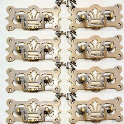 "8 small pulls handle solid brass door old vintge style drops 3"" kitchen drawer"