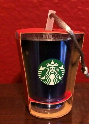 Disneyland 60th Anniversary Diamond STARBUCKS Cold Cup Tumbler ORNAMENT NEW