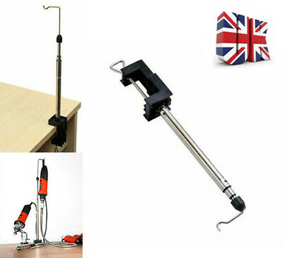 Rotary Telescopic Hanging Stand Clamp Flexi Holder Silverline/Dremel Mini Drill