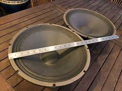 Pair of (2) 15 Inch vintage Woofers. - excellent working condition.