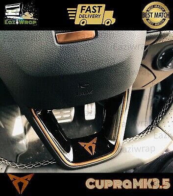 Eaziwrap Seat Leon Cupra MK3.5 Steering Wheel Vinyl & Pinstripe Decal COPPER