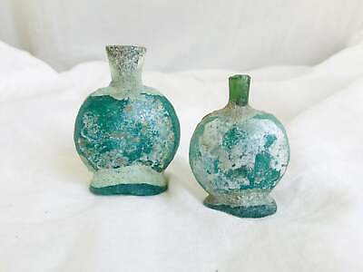 Trio of Ancient Roman Bottles. 2-3rd Century. Repaired