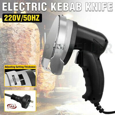 2X Commercial Electric Auto Kebab Knife Barbecue Meat Cutter Slicer Free Ship AU