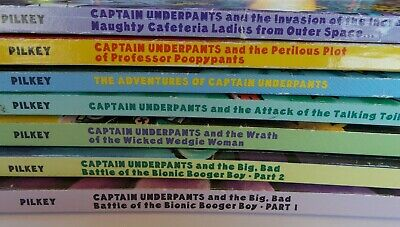 Captain UnderPants lot of 7  Popular Serie's Kid's Paper back books