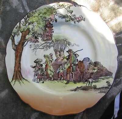 Stunning Vintage Royal Doulton Gleaners Cabinet Plate
