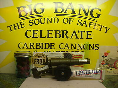 ONE BANGSITE + 1958 60Mm Premier Big Bang Cannon Carbide Cast Iron  Conestoga Toy