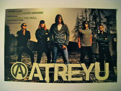 Atreyu *Lead Sails Paper Anchor* Poster Suicide Notes and Butterfly Kisses Curse