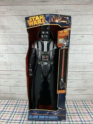 "2013 Star Wars Deluxe Darth Vader 31"" w/ Lightsaber Sound Effects Jakks Pacific"