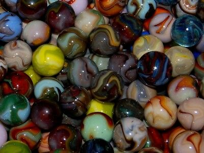 Ten Beautiful Shiny Jabo Classic Shooter Marbles 10 Random All Different 14.95