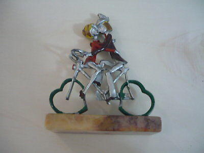 "Statuette ""lovers on bicycle"" vintage '70"