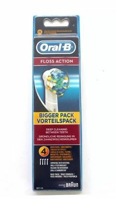 Braun Oral B Floss Action Replacement Tooth Brush 4 Or 8 Heads Genuine New