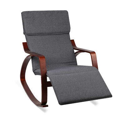 Armchair Rocking Chair Sofa Fabric Lounge Room Furniture Adjustable Footrest Cha