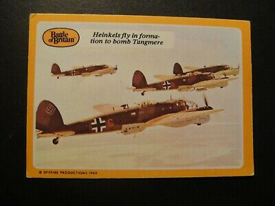 A&BC GUM BATTLE OF BRITAIN No11 HEINKELS RAF MESSERSCHMITTS SPITFIRES