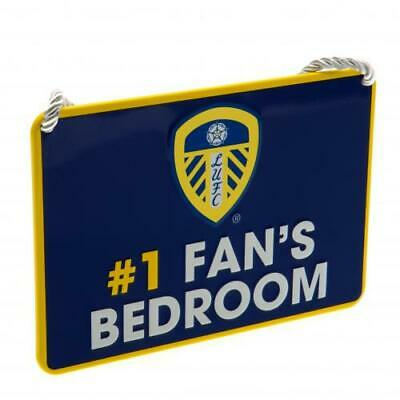 No 1 Fans Bedroom Sign ( Leeds United FC ) Official Licenced Product ( Seconds )