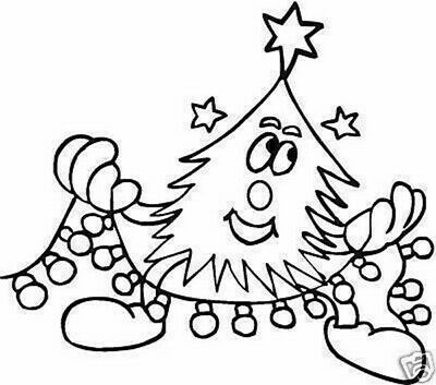 Christmas - Funky Tree Unmounted Clear Stamp Approx 75x66mm