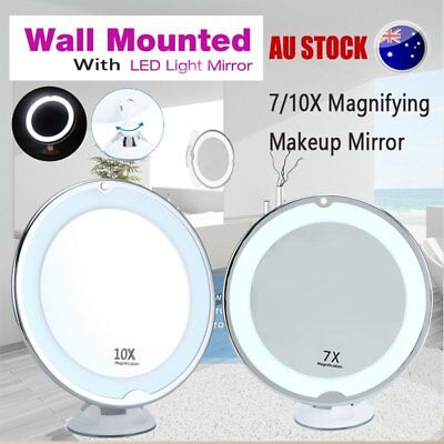 7x/10x Magnifying Makeup Mirror With Light Cosmetic LED Vanity Bathroom Tool RL