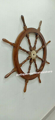 Vintage Nautical Decor Wood Decorative Ship Wheel Center Home Decoration Giffts