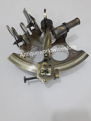Solid Brass Antique Vintage Nautical Maritime Astrolabe Marine Gift Sextant