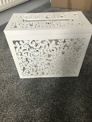 Wedding Card Box - White Lace Wooden