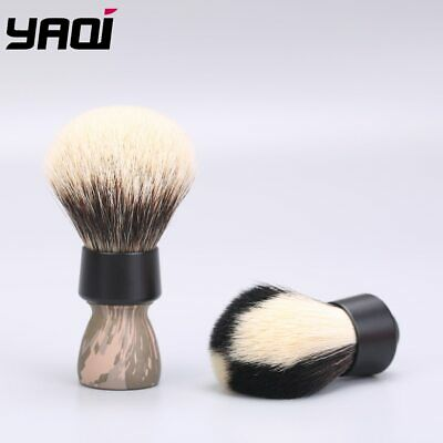 """YAQI: Camouflage Two in One Knots Synthetic and """"Two Band Badger"""" SHAVING BRUSH"""
