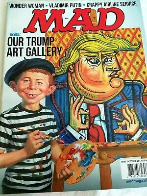 Mad Magazine #547  Donald Trump Art Galley Cover October 2017 New