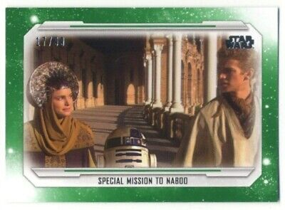 2019 Topps Star Wars Skywalker Saga- Base Parallel- #16- GREEN- 17/99