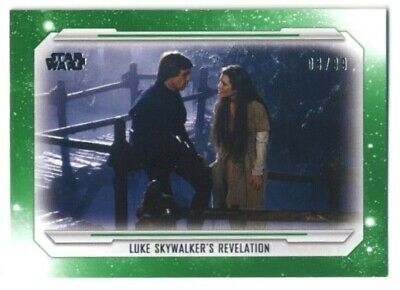 2019 Topps Star Wars Skywalker Saga- Base Parallel- #74- GREEN- 03/99