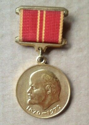 Soviet USSR memorabilia  Lenin Medal to celebrate his 100 year