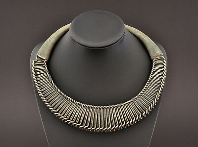 Heavy silver neck ring, Miao / Hmong from Guizhou province, China, Asian Art