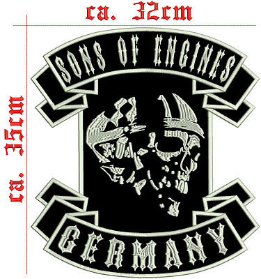 Sons of Engines Germany Rückenpatch Aufnäher