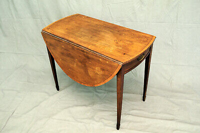 Georgian oval drop leaf Pembroke table