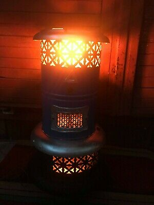 Vintage Antique Perfection Blue Smokeless Oil Heater Porcelain Enamel 1906 year