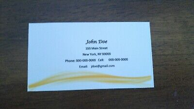 100 Full Color Business Cards.