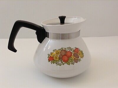 Vintage Corning Ware P104 Spice Of Life 6 Cup Coffee Tea Pot With Lid