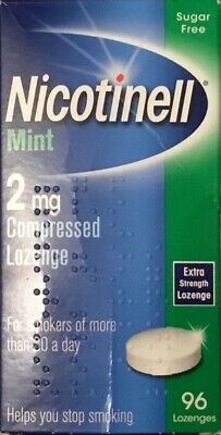 Nicotinell Mint 2mg Compressed Lozenge - 96 Lozenges (Genuine)