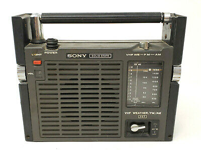 Vintage Sony Tfm-8100Wa Solid State Am/Fm Weather Band Radio Japan Portable