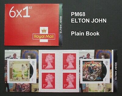PM68 ... 2019 MUSIC GIANTS ... ELTON JOHN Self Adhesive ... Plain Book
