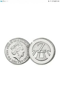 A-Z 10p Coins Unc from Royal Mint (2018) Z - Zebra Crossing