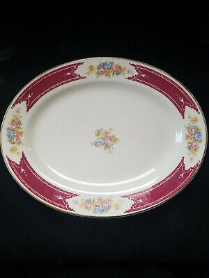 """Homer Laughlin Lady Alice Oval Serving Plate 11.5"""""""