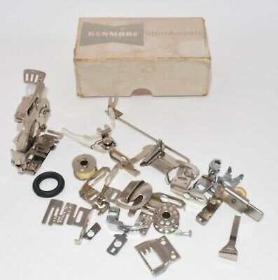 Greist Sewing Machine Attachments in Kenmore Box Ruffler, Edger, and More