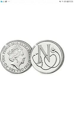 A-Z 10p Coins Unc from Royal Mint (2018) N - NHS