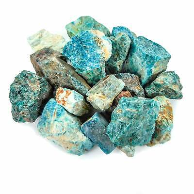 Bulk Wholesale Lot 1 LB - Blue Apatite - One Pound Rough Raw Stones Natural
