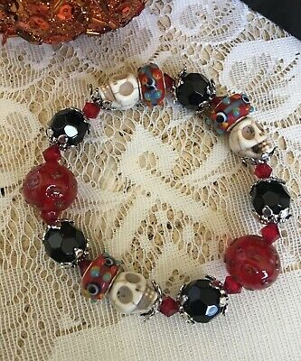 Dia De Los Muertos / Day of the Dead Stretch Bracelet