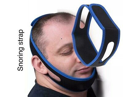 Anti Snore Sleep Apnea Stop Snoring Strap Belt Jaw Solution Chin Support UK