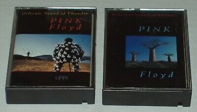 """Pink Floyd Cassette Tape Lot: """"Delicate Sound of Thunder Live"""" Tapes 1 & 2"""
