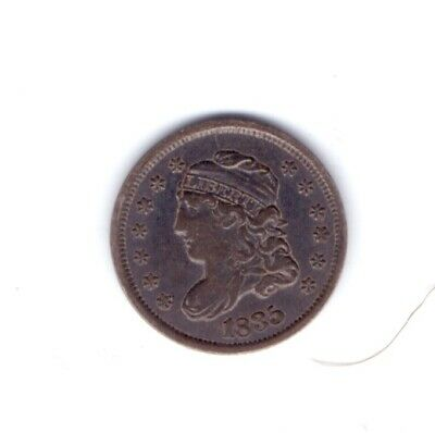 1835 USA Half Dime Coin Large Date, Small 5c Scarce