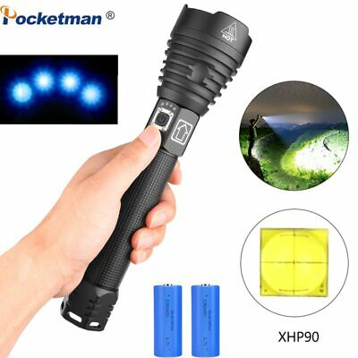 XHP90 Most LED Flashlight XLamp 18650 26650 Zoom Torch XHP70.2 USB Rechargeable