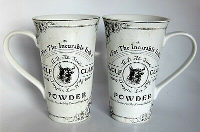 2x 222 Fifth Hallow Apothecary Halloween Latte Mugs Wolf Claw Powder