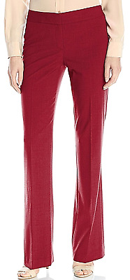 NINE WEST New 4 Bordeaux  Red Dress Pants Straight Leg Stretch Trousers $79 NWT